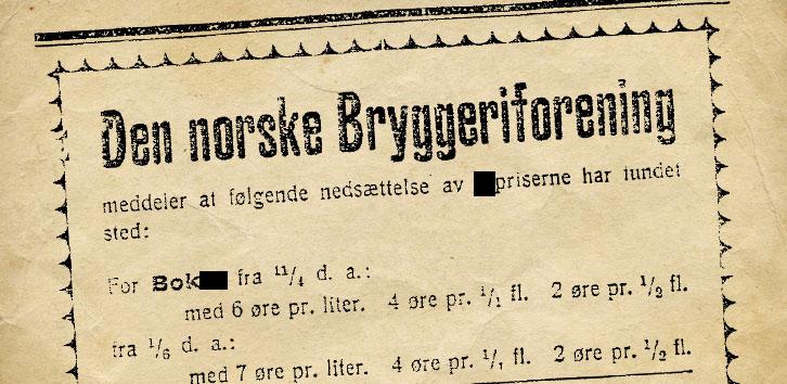 Bryggeriforeningen 1901